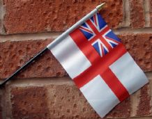 HAND WAVING FLAG (SMALL) - British White Ensign
